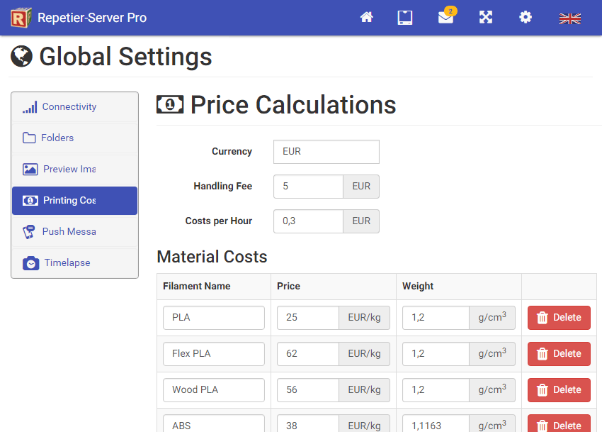 Price Calculations